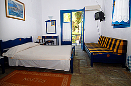 triple rooms nostos skiahtos hotel
